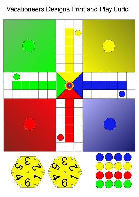 Print and Play LUDO. FREE DOWNLOAD Promo Code is FREEDA