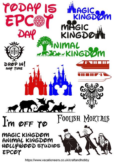 Disney Mix Craft Pack for Hobbyists svg jpg gif pdf eps