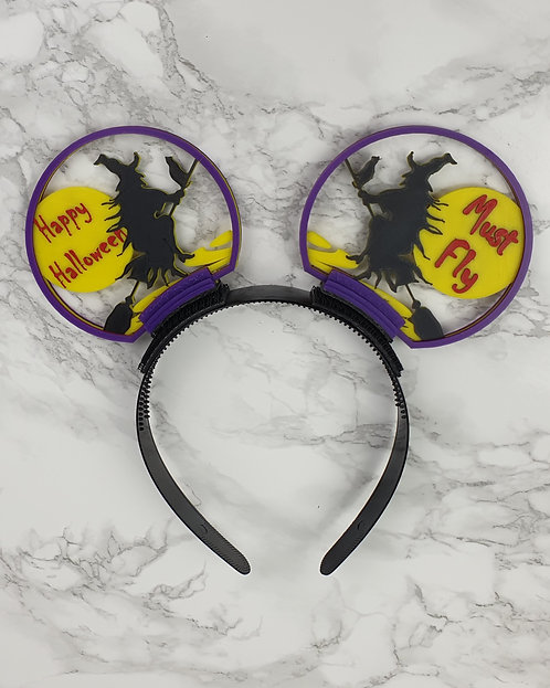 Disney Ears, Flying Witch. Ideal for Horror Nights.