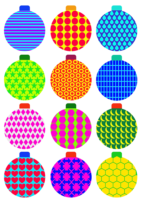 Bauble Pattern Design Pack for Crafters and Hobbyists svg jpg gif png dxf