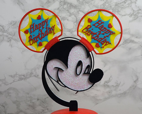 Disney Ears, Personalised Happy Birthday Splash.