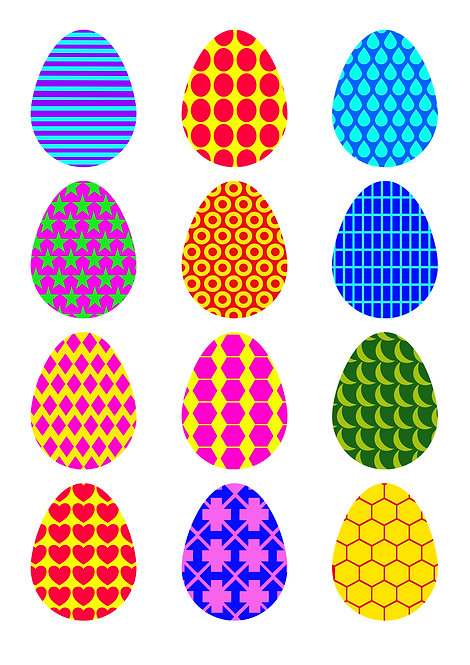 Easter Egg Pattern Design Pack for Crafters,  Hobbyists svg jpg gif png dxf
