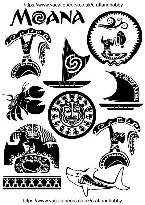 Disneys Moana Maui Craft Pack for Hobbyists svg jpg gif pdf eps