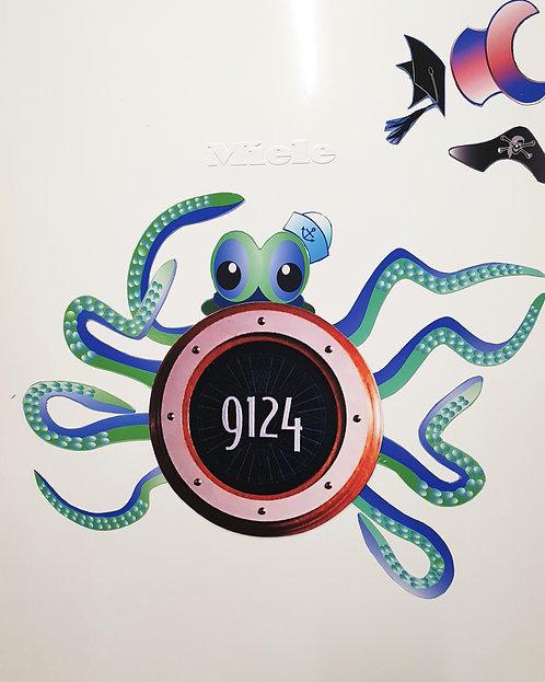 Disney Cruise Line Door Decoration, Oscar Octopus. DOWNLOAD
