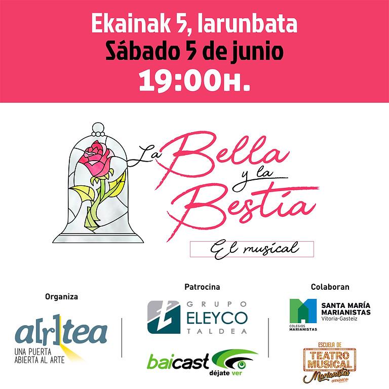 BELLA Y BESTIA, EL MUSICAL / SÁBADO 5 DE JUNIO 19:00