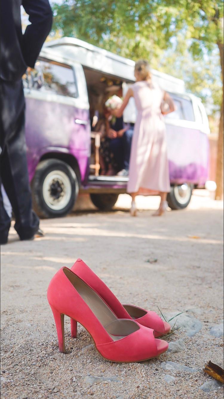 Volkswagen Photo booth at wedding in Palacio Pousada de Estoi Faro Algarve Portugal