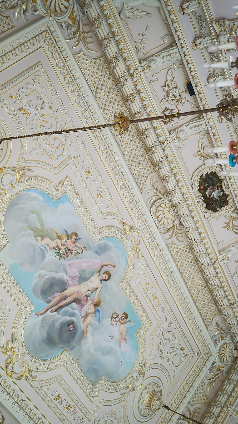 Ceiling in Wedding Venue Palacio de Estoi Faro Algarve Portugal