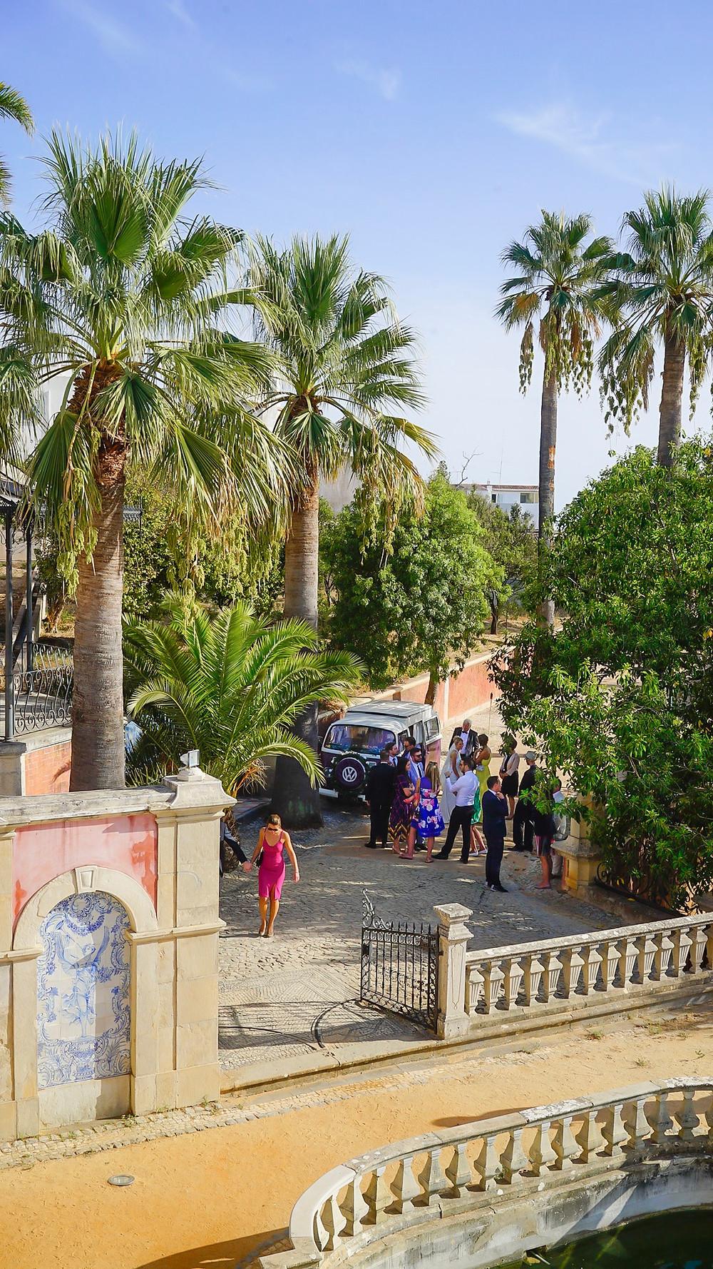 Volkswagen Photo booth at Palacio de Estoi Wedding in the Algarve