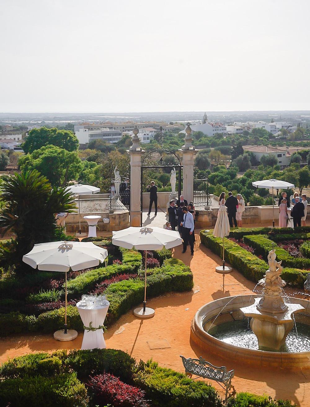 View from Palacio de Estoi Pousada Wedding Venue in Faro Algarve Portugal