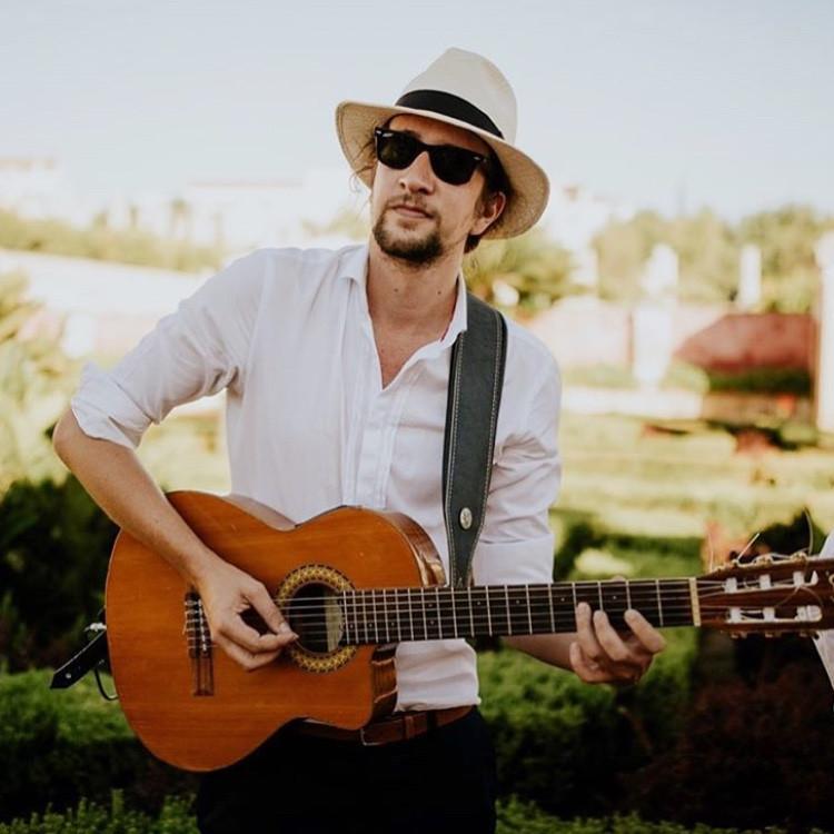 Charley Waite Classical Guitarist playing for a wedding at Pousada de Estoi, Faro, Algarve, Portugal