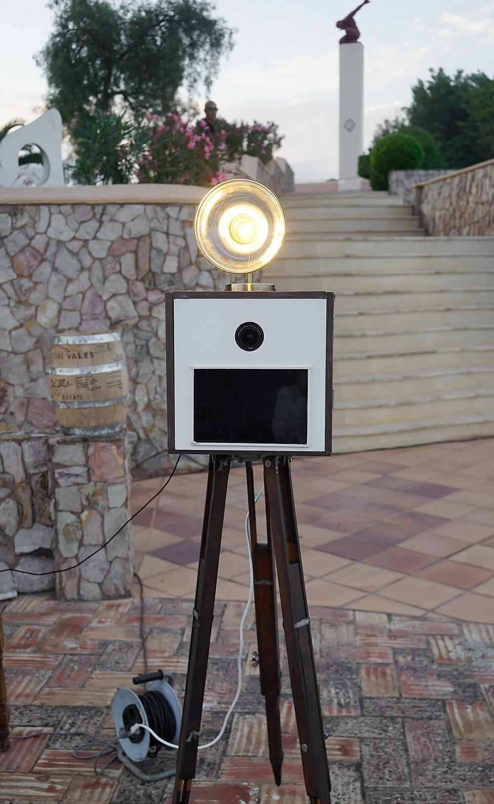 Camera Box Vintage Photo Booth at Wedding Venue Lagos Algarve Portugal