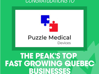 Puzzle Medical named Top Fast Growing Business by The Peak
