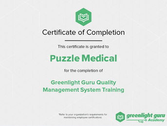 Puzzle Medical announces its team training completion for Quality Management System