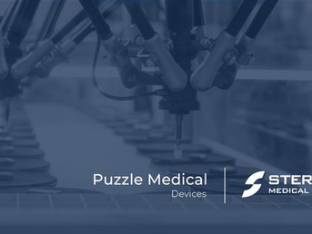 Puzzle Medical announces partnership with strong leader in device development Sterling Medical
