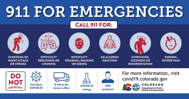 Do not call 911 for information about COVID-19