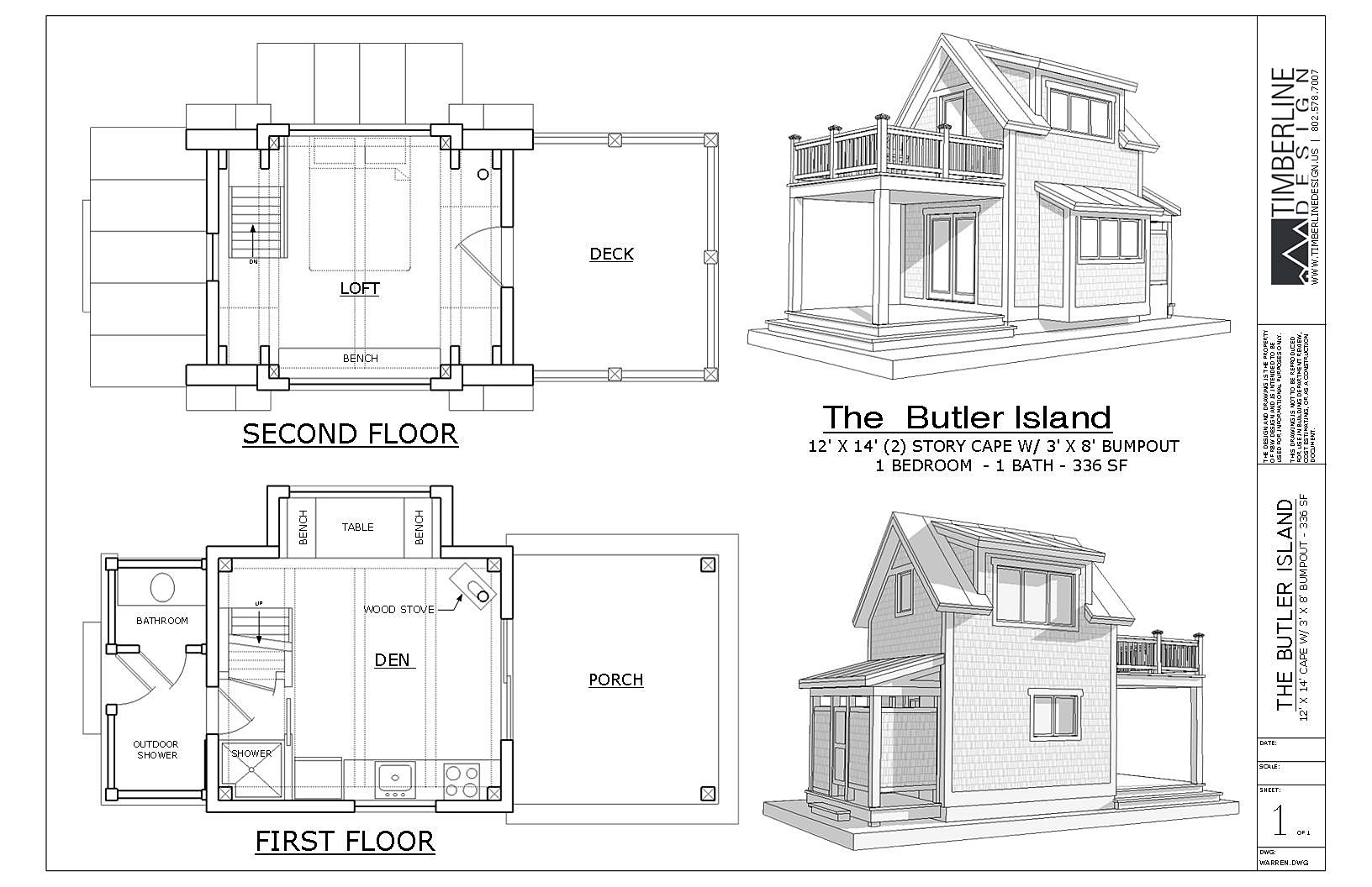 Elevation Floor Plan House : Vermont home design residential architectual