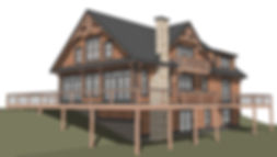 Newport Timber Frame House Plane - Eleva