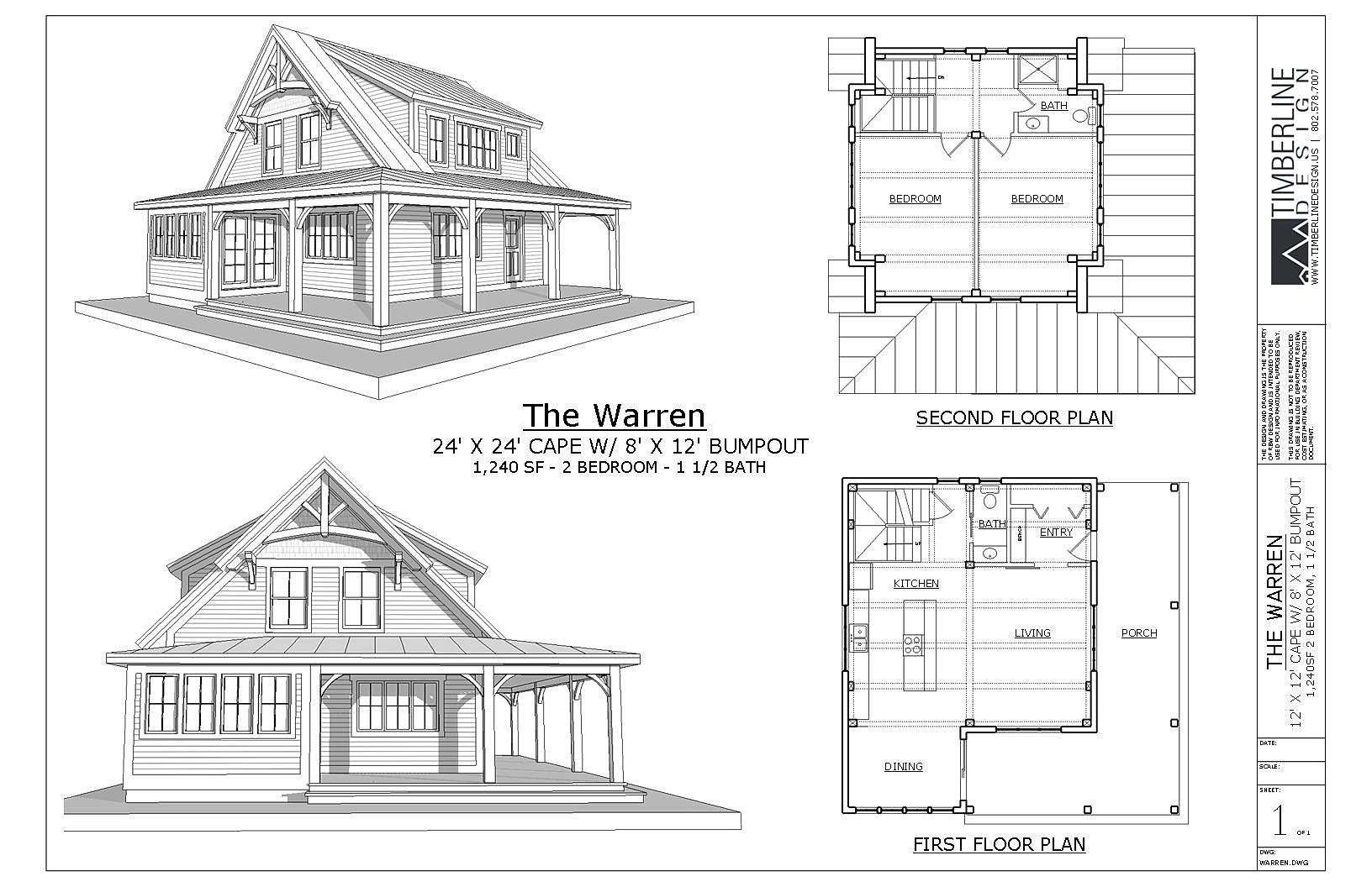 Vermont home design residential architectual design - Three wooden house plans ...