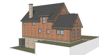 The Lake Dunmore - Timber Frame Elevation