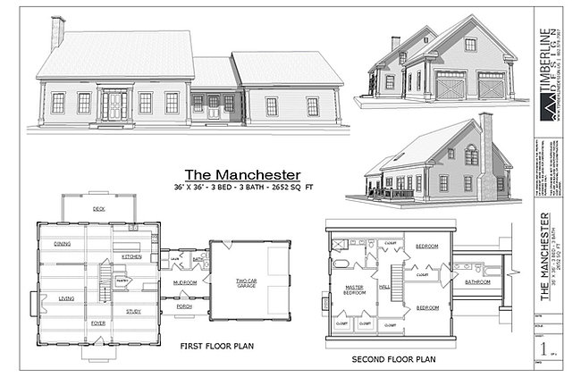 The Manchester Cape Cod Style Timber Frame House Plan