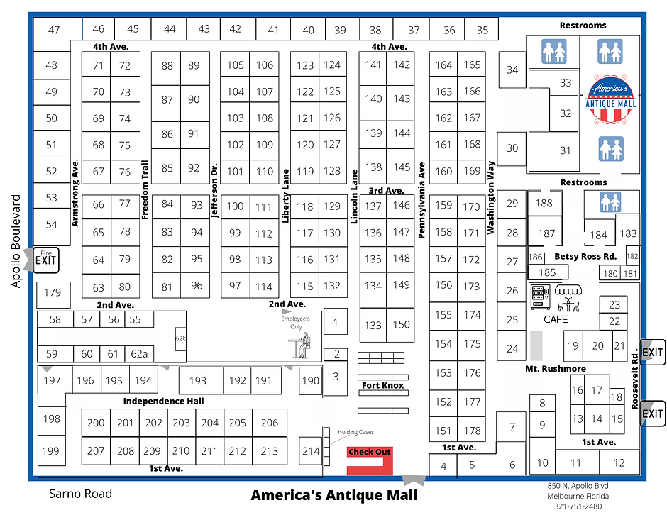 antique-mall-melbourne-florida-store-map