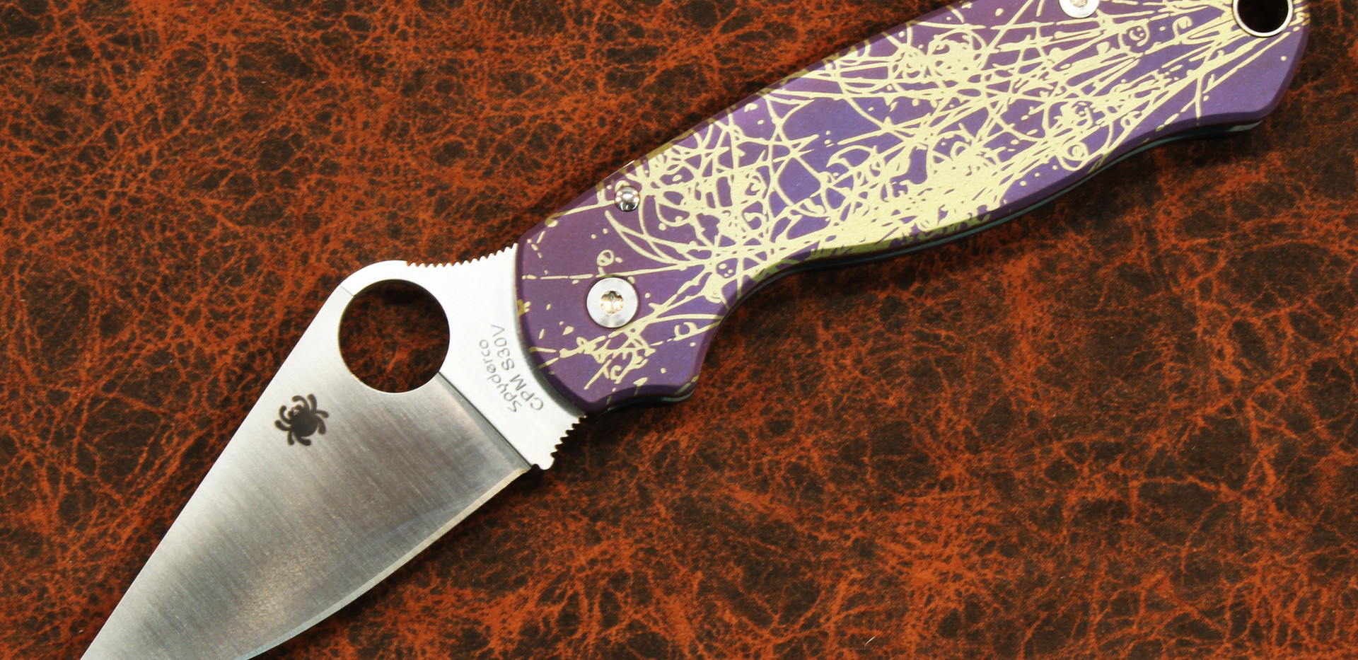 Spyderco Paramilitary Particle #3 pattern