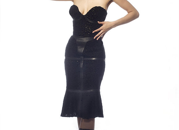 CORSETED HARNESS DRESS