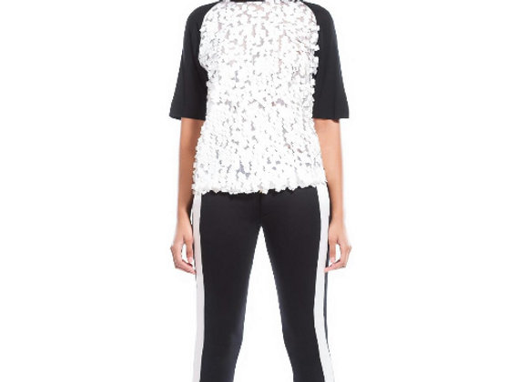 SEQUIN RAGLAN JERSEY TOP