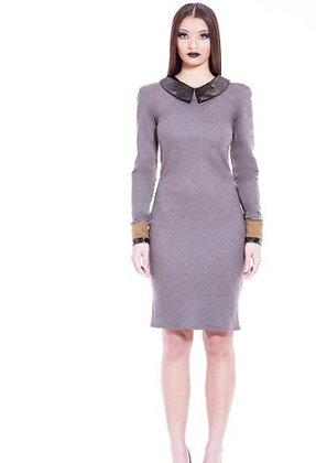 SUPER 150 WOOL COLOR BLOCK DRESS