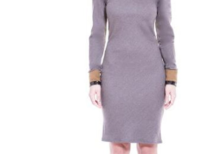 SUPER 150 WOOL COLOR BLOCK DRESS