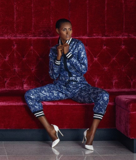 Shanghai Luxe Tracksuit Top Blouse
