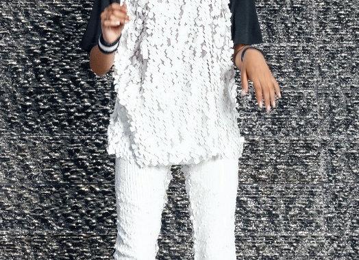 Luxe Mixed Sequin Paillettes Trouser Pants
