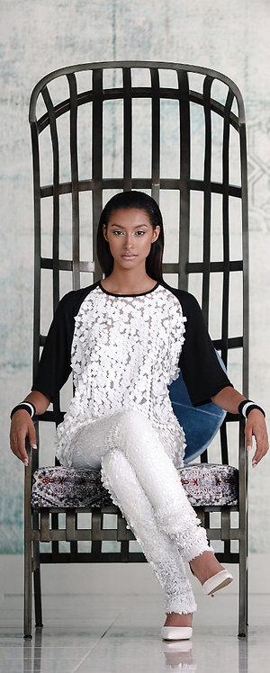 Luxe Raglan Sequin Paillettes Blouse/Top