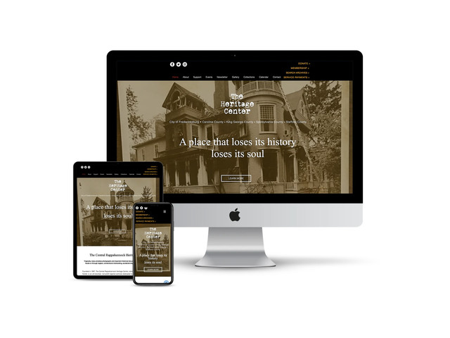 Website Design for Historic Archive