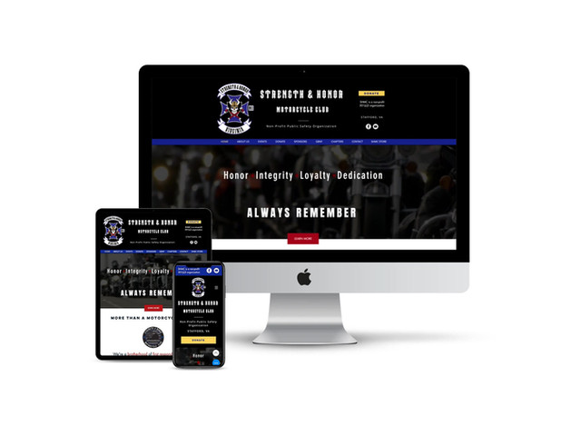 Website Design for Veteran Motorcycle Club