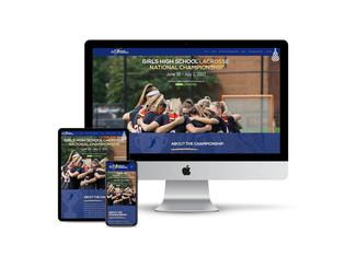 Website Design for National Lacrosse Tournament