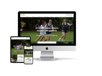 Website Design for Lacrosse Recruiting Camp