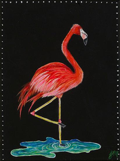 Fancy Flamingo - Greeting Card