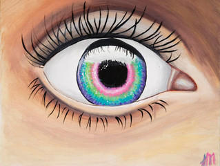 Eye Don't Know! My steps of painting this rainbow eye.