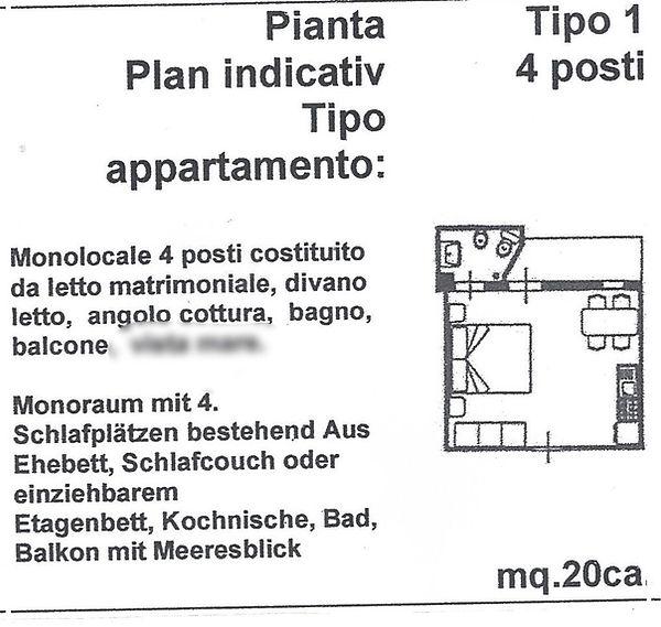 appartamento mono tipo 1