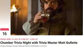 Chamber Trivia Night with Trivia Master Matt Gullette