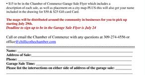 Town Wide Garage Sale Forms