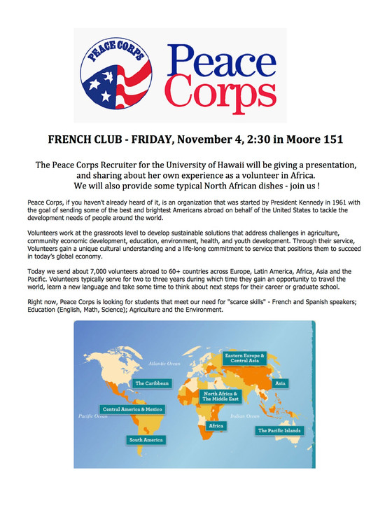 Peace Corps on Campus!