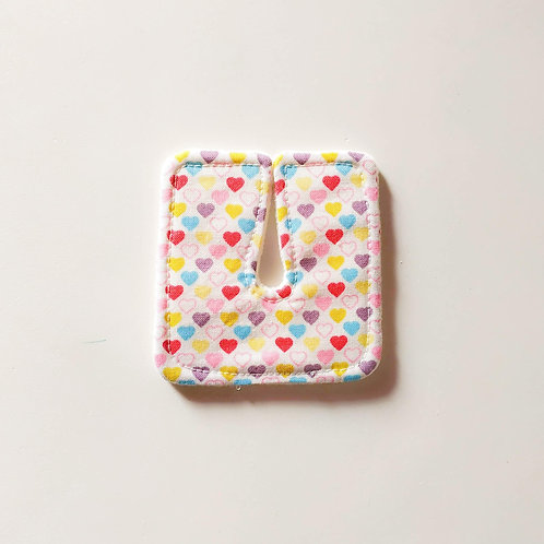 "Tracheo-patch"" - COEURS MULTICOLORES"