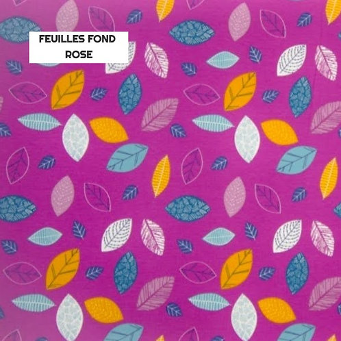 Stomie Patch - Feuilles fond Rose