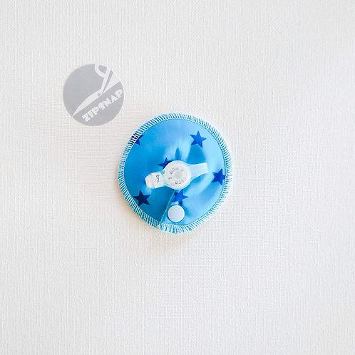 Stomie Patch - Turquoise étoiles bleues