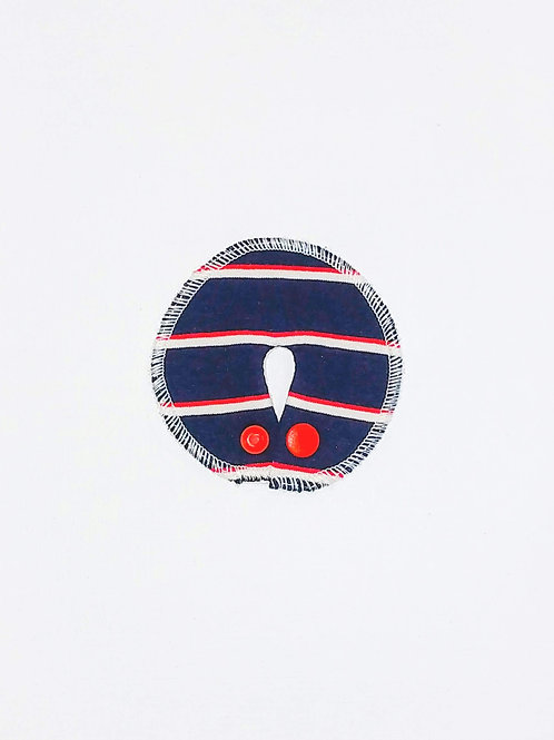 Stomie Patch - Rayures Marine et rouge 1