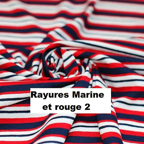 Stomie Patch - Rayures Marine et rouge 2
