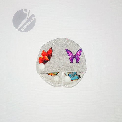 Stomie Patch - Papillons fond Gris
