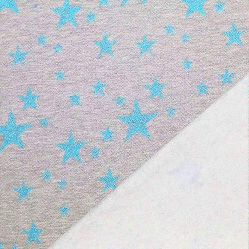 Sarouel gris étoiles bleues scintillantes (ouvertures au choix)